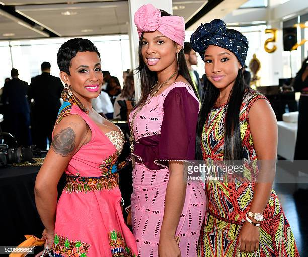 Melissa Brim Guest and Lil Tokyo attend Dej Loaf's Royal African Birthday Bash at Ventanas on April 8 2016 in Atlanta Georgia