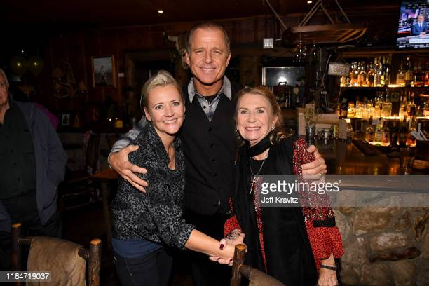 Melissa Caufield Maxwell Caufield and Juliet Mills celebrate the 60th Birthday of Maxwell Caufield at the Deer Lodge on November 23 2019 in Ojai...