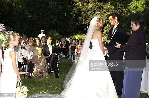 Melissa Caulfield and David Tuchman during David Tuchman and Melissa Caulfield Wedding 2001