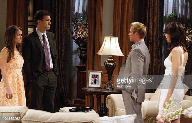 Melissa Claire Egan , Adam Mayfield , Jacob Young and Brittany Allen in a scene that airs the week of June 14, 2010 on Walt Disney Television via...