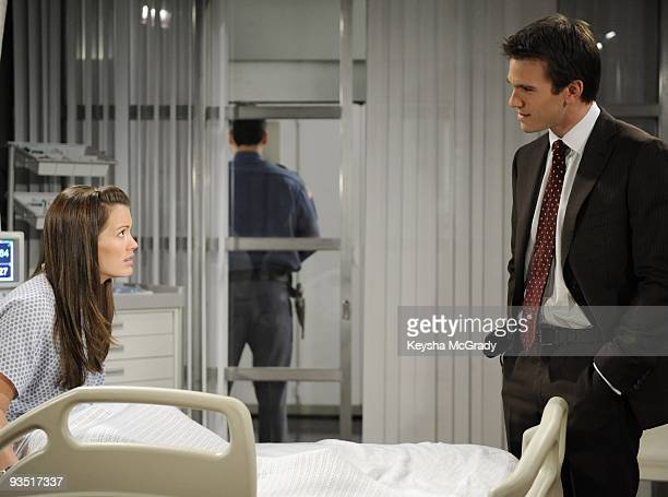 CHILDREN Melissa Claire Egan and Adam Mayfield in a scene that airs the week of December 7 2009 on Walt Disney Television via Getty Images Daytime's...