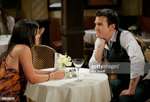 """Melissa Claire Egan and Adam Mayfield in a scene that airs the week of May 10, 2010 on Walt Disney Television via Getty Images Daytime's """"All My..."""
