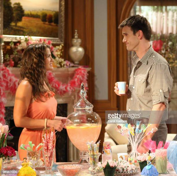 """Melissa Claire Egan and Adam Mayfield in a scene that airs the week of May 17, 2010 on Walt Disney Television via Getty Images Daytime's """"All My..."""
