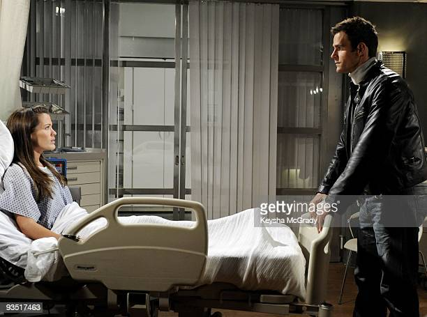 CHILDREN Melissa Claire Egan and Cameron Mathison in a scene that airs the week of December 7 2009 on Walt Disney Television via Getty Images...