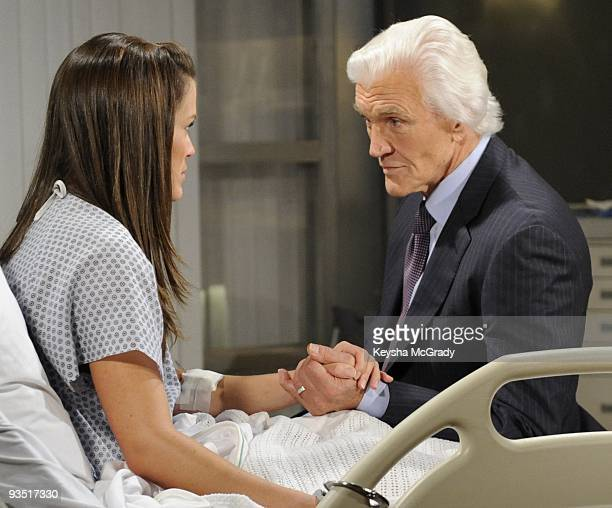 CHILDREN Melissa Claire Egan and David Canary in a scene that airs the week of December 7 2009 on Walt Disney Television via Getty Images Daytime's...