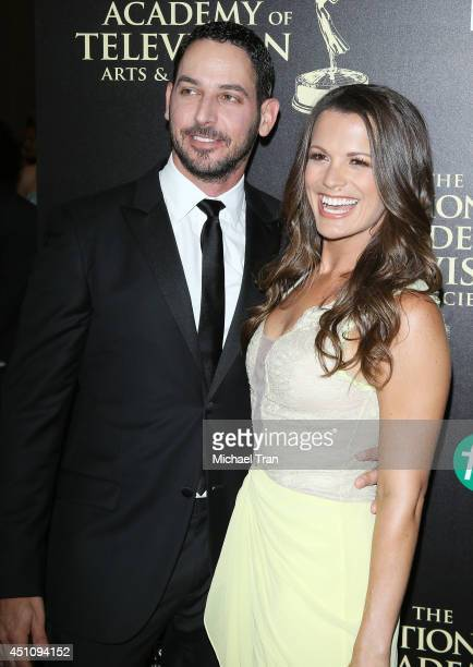 Melissa Claire Egan and Matt Katrosar arrive at the 41st Annual Daytime Emmy Awards held at The Beverly Hilton Hotel on June 22 2014 in Beverly Hills...