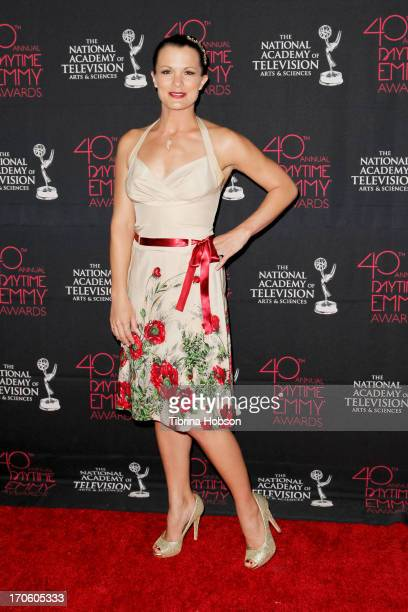 Melissa Claire Egan attends The National Academy of Television Arts Sciences' 40th annual daytime Creative Arts Emmy Awards at Westin Bonaventure...