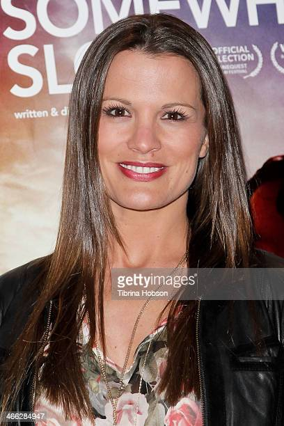 Melissa Claire Egan attends the 'Somewhere Slow' Los Angeles opening night screening at Arena Cinema Hollywood on January 31 2014 in Hollywood...