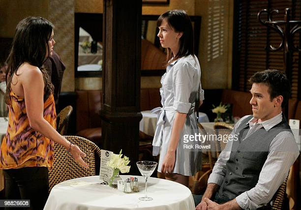 Melissa Claire Egan , Brittany Allen and Adam Mayfield in a scene that airs the week of May 10, 2010 on Walt Disney Television via Getty Images...