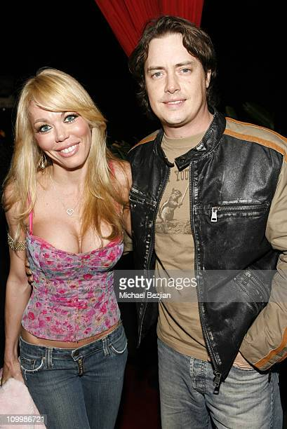 Melissa Cunningham and Jeremy London during Charmaine Blake Birthday Party at Privlage Night Club in Los Angeles California United States