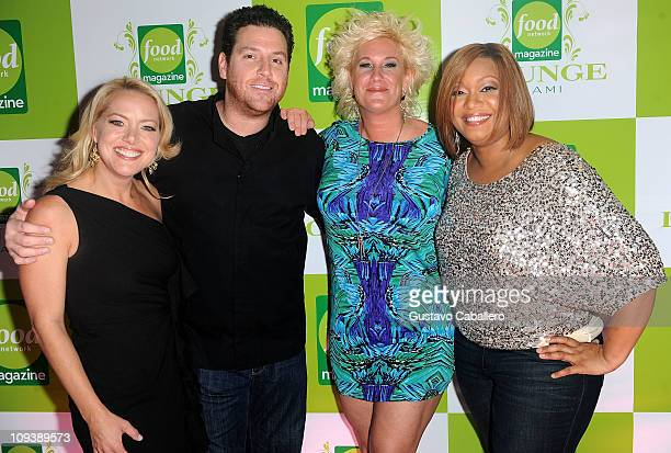 Melissa d'Arabian Scott Conant Anne Burrell and Sunny Anderson attend the Food Network Magazine Lounge Miami at Scarpetta Fontainbleau Hotel on...