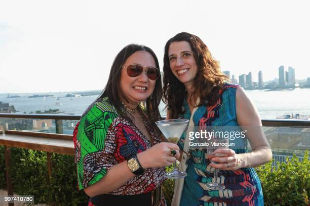 Melissa de la Cruz and Jill Schwartzman during the Melissa de la Cruz And Michael Johnston Summer Soiree at Azul On the Rooftop at Hotel Hugo on July...
