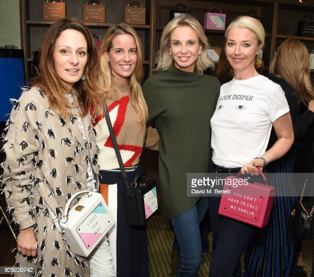 Melissa del Bono Carolina Bonfiglio Corinna zu SaynWittgenstein and Tamara Beckworth attend an International Women's Day Breakfast hosted by meli...