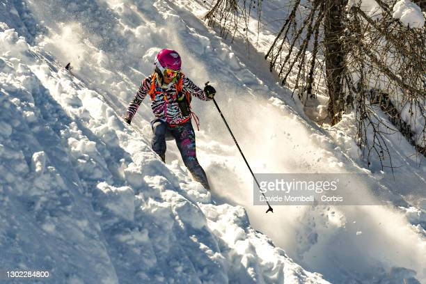 Melissa Del Vincenzo in action during Italian Team Ski Mountaineering Championships on February 14, 2021 in ALBOSAGGIA, Italy.