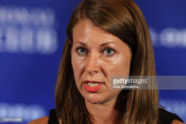 Melissa DeRosa Secretary to New York Governor Andrew Cuomo speaks during a news conference at the National Press Club May 27 2020 in Washington DC...