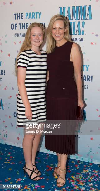 Melissa Doyle and daughter Talia arrive ahead of the premiere of Mamma Mia The Musical at Capitol Theatre on February 15 2018 in Sydney Australia