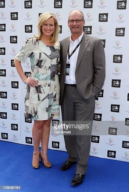 Melissa Doyle and David Koch arrive at the Wharf4Ward cancer fundraiser on October 13 2011 in Sydney Australia