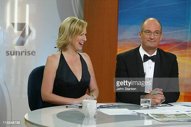 Melissa Doyle and David Koch during 'Dancing with the Stars' Celebrities Appear on Channel 7's 'Sunrise' February 15 2006 at Channel 7 Sydney in...