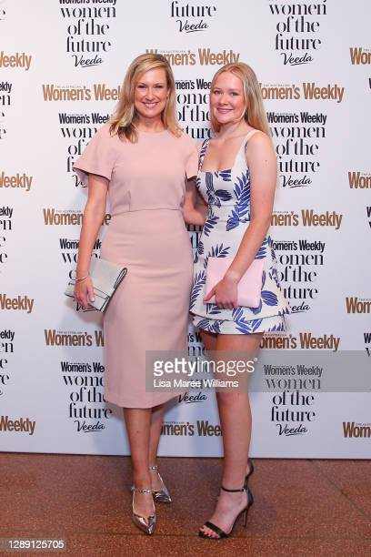 Melissa Doyle and Natalia Grace Dunlop attends the Women Of The Future Awards at Sydney Opera House on December 03, 2020 in Sydney, Australia.