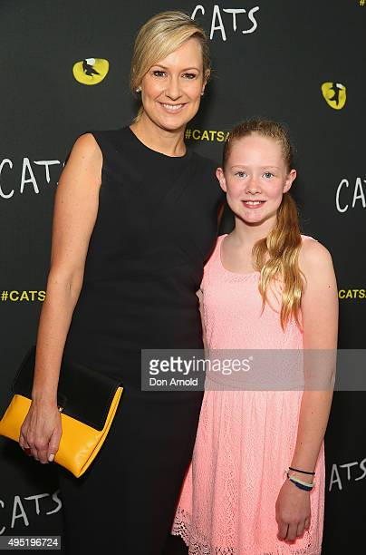 Melissa Doyle and Tahlia Doyle arrive ahead of CATS opening night at Capitol Theatre on November 1 2015 in Sydney Australia