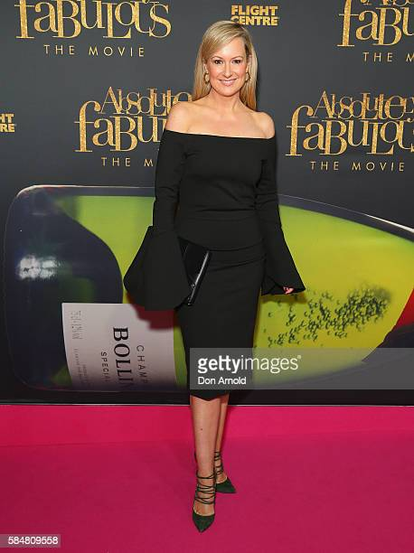 Melissa Doyle arrives ahead of the Absolutely Fabulous The Movie Australian premiere at State Theatre on July 31 2016 in Sydney Australia