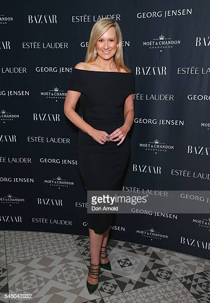 Melissa Doyle arrives ahead of the Harper's Bazaar Fabulous At Every Age event at Missy French on July 5 2016 in Sydney Australia