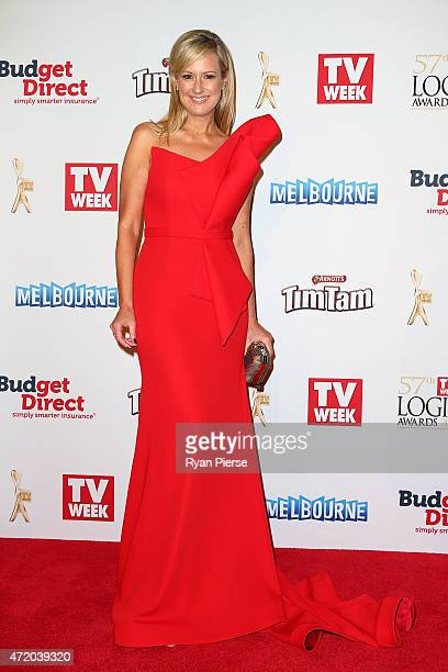 Melissa Doyle arrives at the 57th Annual Logie Awards at Crown Palladium on May 3, 2015 in Melbourne, Australia.