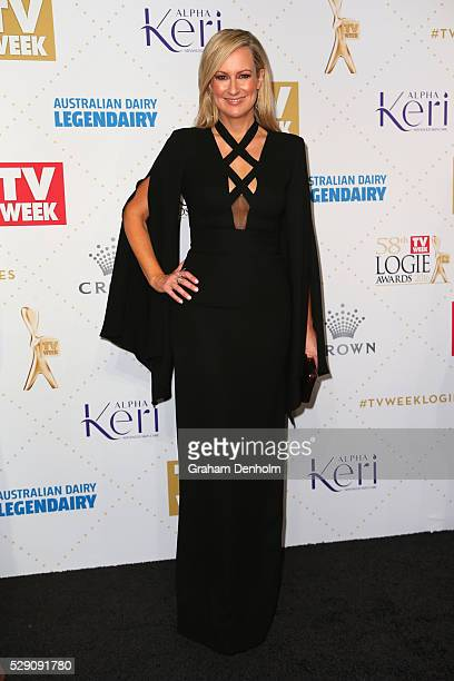 Melissa Doyle arrives at the 58th Annual Logie Awards at Crown Palladium on May 8 2016 in Melbourne Australia