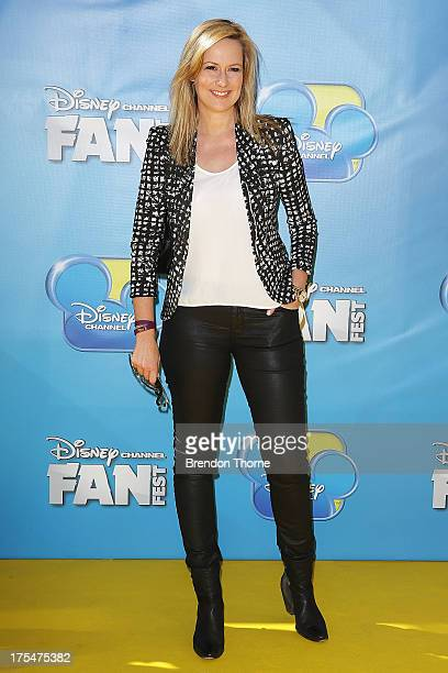 Melissa Doyle arrives at the Australian premiere of 'Teen Beach Movie' at The Entertainment Quarter on August 4 2013 in Sydney Australia