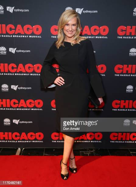 Melissa Doyle attends opening night of CHICAGO at Capitol Theatre on August 27 2019 in Sydney Australia