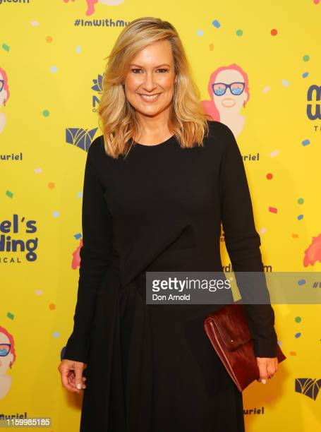 Melissa Doyle attends opening night of Muriel's Wedding The Musical at Lyric Theatre, Star City on July 04, 2019 in Sydney, Australia.