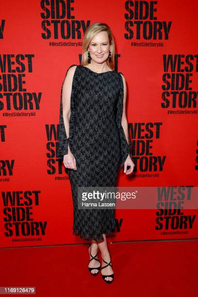Melissa Doyle attends opening night of West Side Story at Sydney Opera House on August 20 2019 in Sydney Australia