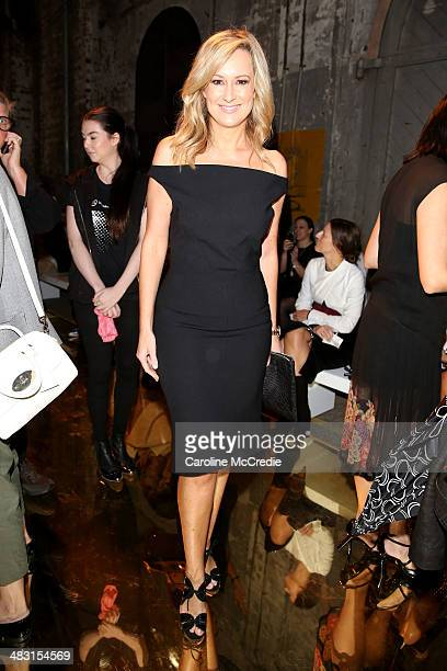 Melissa Doyle attends the Alex Perry show during MercedesBenz Fashion Week Australia 2014 at Carriageworks on April 7 2014 in Sydney Australia