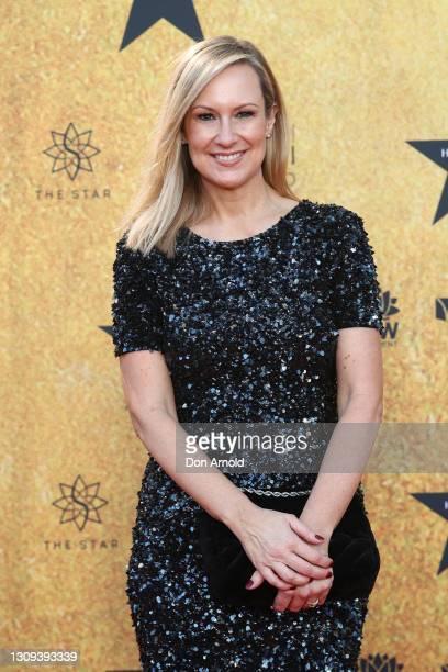 Melissa Doyle attends the Australian premiere of Hamilton at Lyric Theatre, Star City on March 27, 2021 in Sydney, Australia.