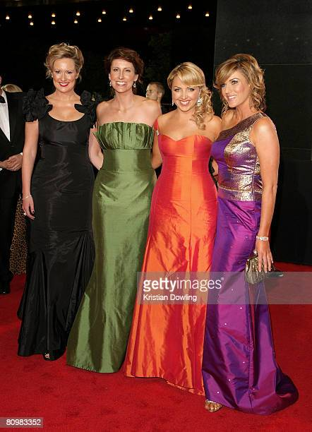 Melissa Doyle, Natalie Barr, Monique Wright,and Kylie Gillies arrives on the red carpet at the 50th Annual TV Week Logie Awards at the Crown Towers...