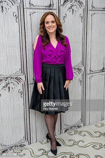 Melissa Errico discusses 'Finian's Rainbow' with the Build Series at AOL HQ on January 5 2017 in New York City