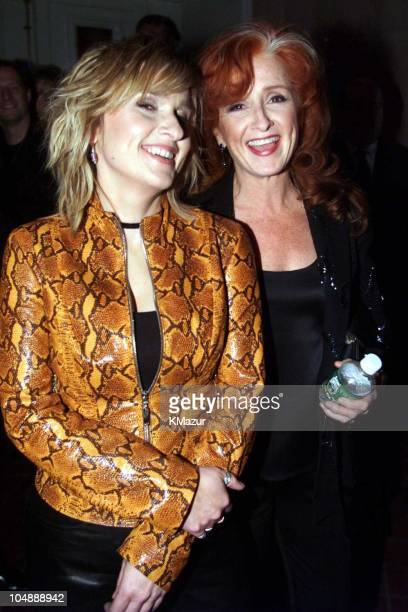 Melissa Etheridge and Bonnie Raitt during 15th Annual Rock and Roll Hall of Fame Induction Ceremony 2000 at Waldorf=Astoria in New York New York...