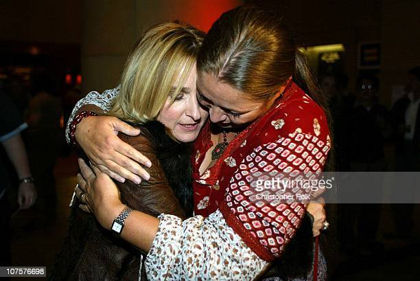 "Melissa Etheridge and Camryn Manheim during Melissa Etheridge ""Live and Alone...the movie"" at The Egyptian Theater in Hollywood."