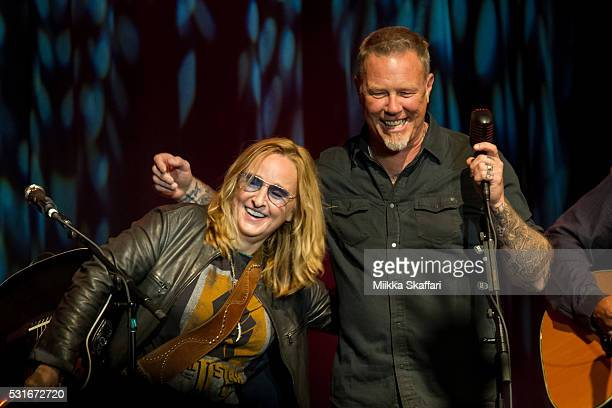 Melissa Etheridge and James Hetfield perform at 3rd annual Acoustic4aCure benefit concert at The Fillmore on May 15 2016 in San Francisco California