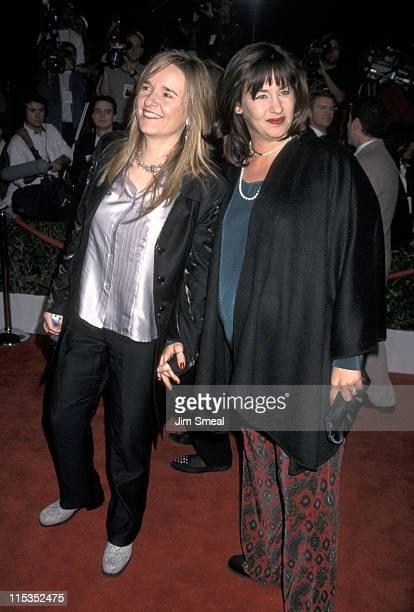 "Melissa Etheridge and Julie Cypher during ""Evita"" Los Angeles Premiere at Shrine Auditorium in Los Angeles, California, United States."