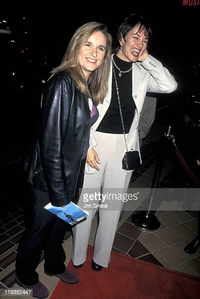Melissa Etheridge and Julie Cypher during The Postman Los Angeles Premiere at Warner Bros Studios in Burbank California United States