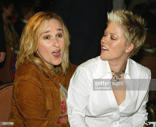 Melissa Etheridge and Tammy Lynn Michaels at the 2nd Annual Power Up Premiere honoring Showtime's Jerry Offsay and Melissa Etheridge at the Regent...
