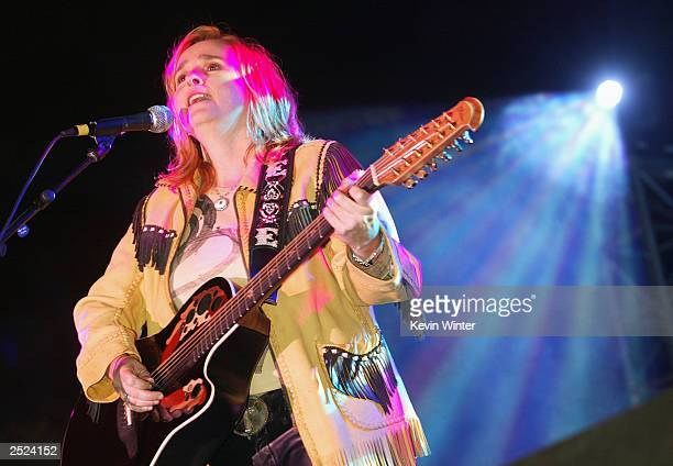 Melissa Etheridge at One World One Child Benefit Concert for the Children's Health Environmental Coalition honoring Meryl Streep Nell Newman and Dr...