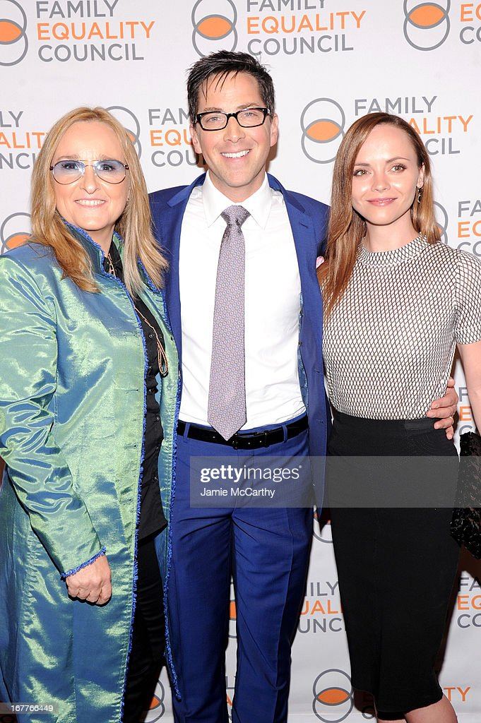 Melissa Etheridge, Dan Bucatinsky and Christina Ricci attend the Family Equality Council's Night at the Pier at Pier 60 on April 29, 2013 in New York City.