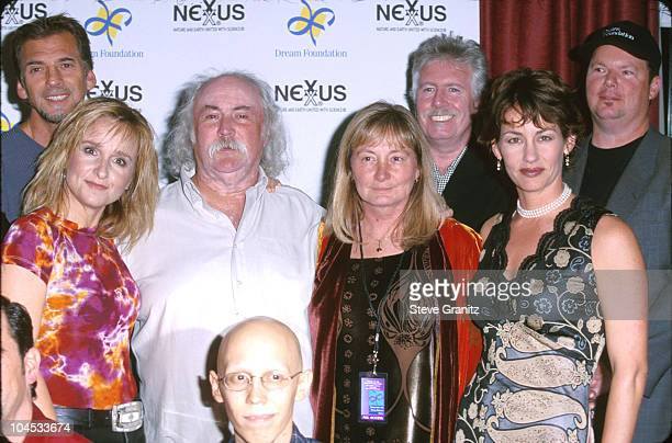 Melissa Etheridge David Crosby Julie Cypher during Friends of the Dream Foundation at Santa Monica Civic Auditorium in Santa Monica California United...