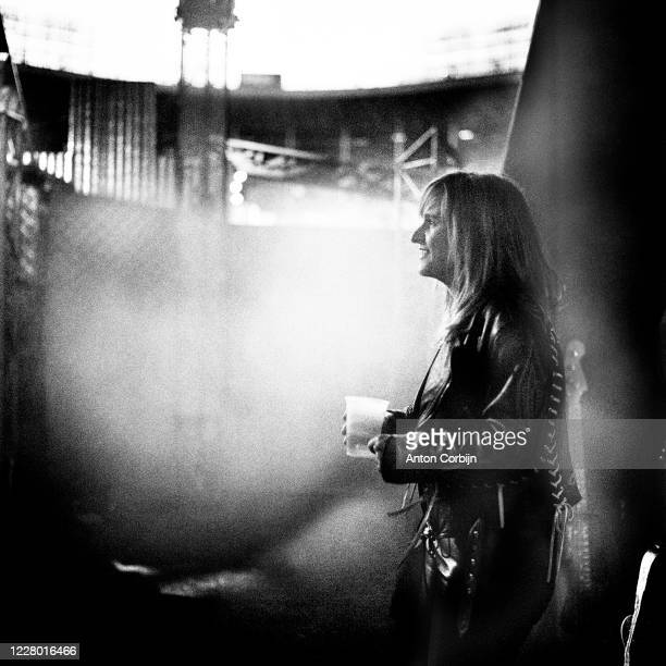 Melissa Etheridge is photographed during preparations for the first concert for the Rock and Roll Hall of Fame Museum on September 2 1995 in...