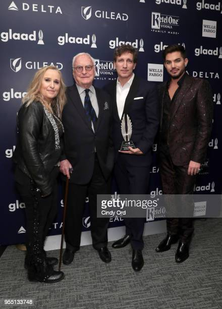 Melissa Etheridge James Ivory and Peter Spears recipients of Outstanding FilmWide Release Award for Call Me By Your Name and Adam Lambert attend the...