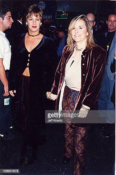 Melissa Etheridge Julie Cypher during 1994 MTV Video Music Awards at Radio City Music Hall in New York City New York United States