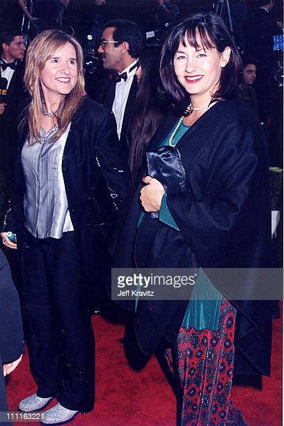 "Melissa Etheridge & Julie Cypher during ""Evita"" Premiere at Shrine Theatre in Los Angeles, California, United States."
