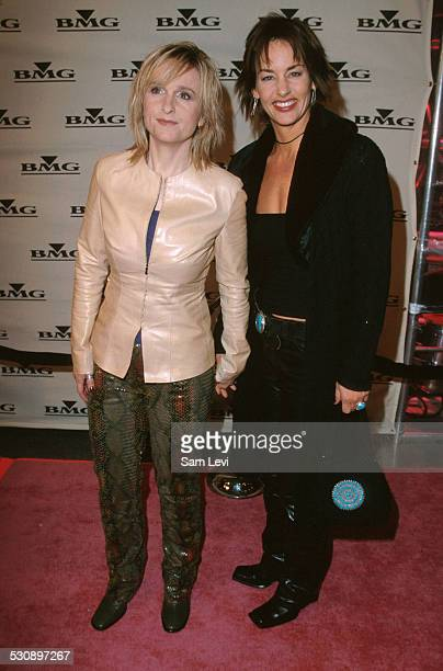 Melissa Etheridge & Julie Cypher during The 42nd Annual GRAMMY Awards - BMG After Party at Quixote Studios in Hollywood, California, United States.